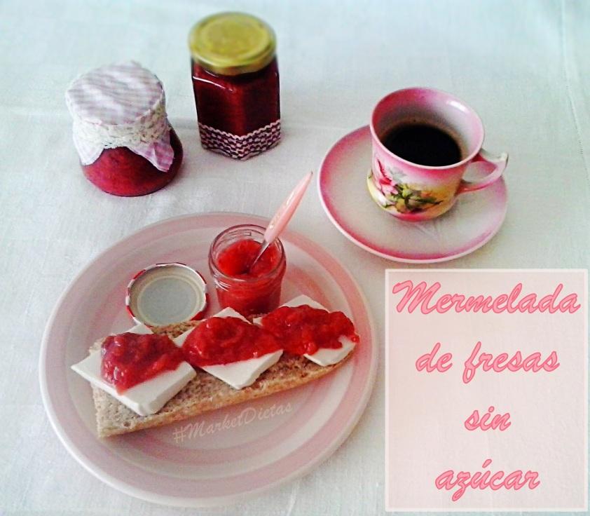 Mermelada de fresas sin azúcar_Market Dietas